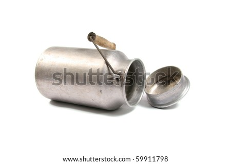 aluminum milk can - stock photo
