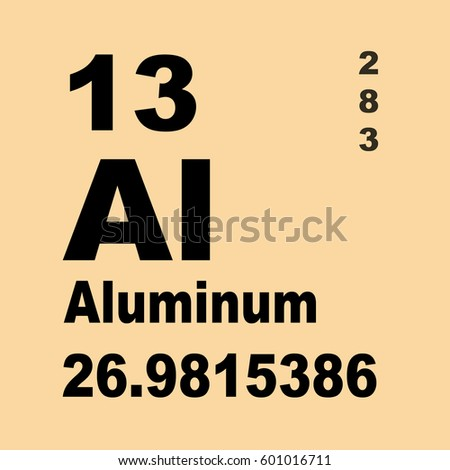 Aluminum Periodic Table Elements Stock Illustration 601016711