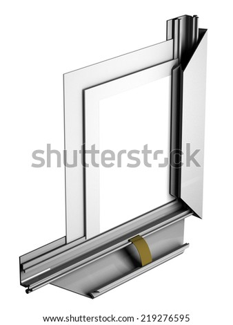 aluminum profile frame in the context of - stock photo