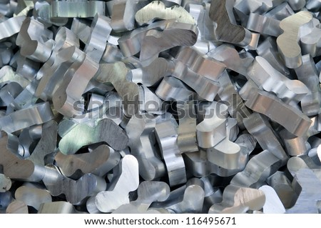 Aluminum recycling - stock photo