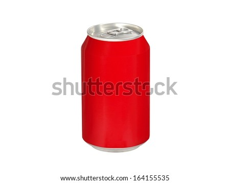 Aluminum red can of cola soda