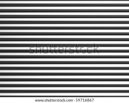 Aluminum silver simple stripe background 3d illustration - stock photo