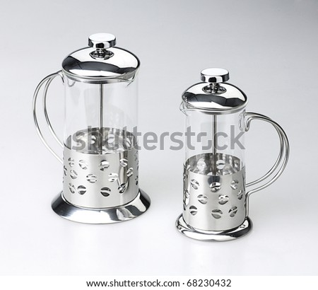 Aluminum tea glass to separate tea and tea leaf from each other the image isolated - stock photo