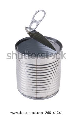 Aluminum tin can - stock photo