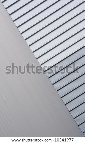 Aluminum walls of two warehouses