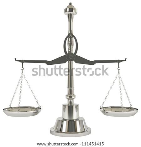 Aluminum Weight Scale - Isolated on background - stock photo
