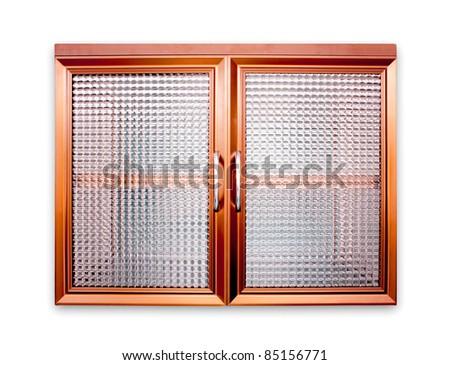 Aluminum window - stock photo