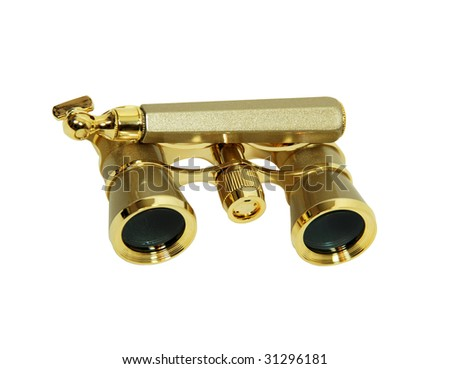Always be prepared with a golden modern opera glasses used to view distant events - path included