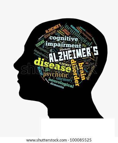 Alzheimer's Disease in Word Collage - stock photo