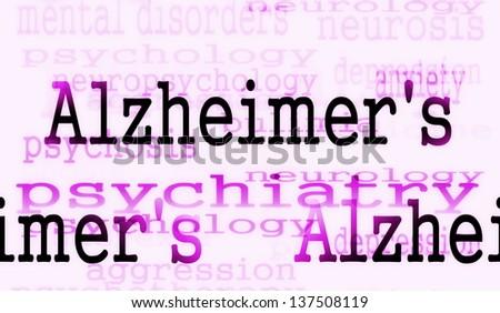 Alzheimer's disease symbol, Concept Dementia background - stock photo