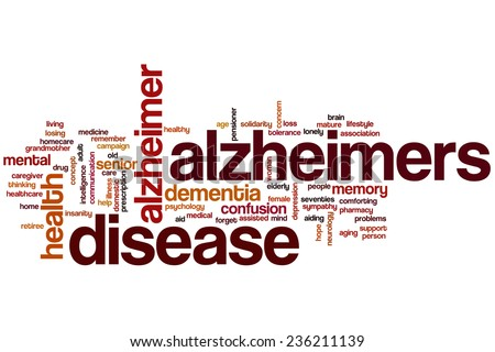 Alzheimers disease word cloud concept - stock photo