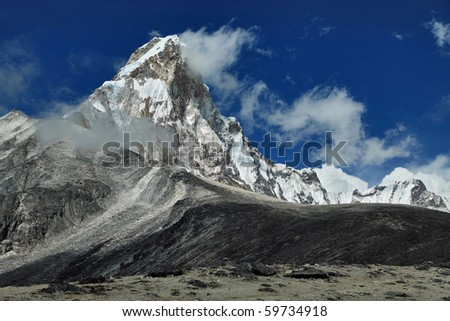 Ama-Dablam East Face - stock photo