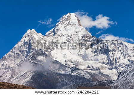 Ama Dablam mountain in Everest region, Himalaya, Nepal