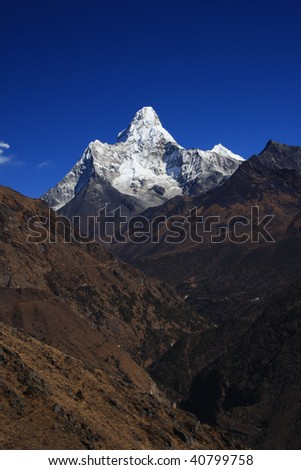 Ama Dablam Mountain - Nepal - stock photo