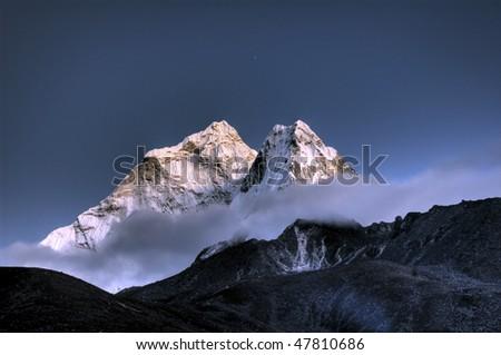 Ama Dablam- Solo Khumbu, Himalaya, Nepal - stock photo