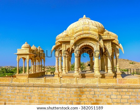 Ama Sagar ancient temple in Jaisalmer, Rajasthan, India