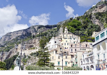 Amalfi - Small Mediterranean town in the region of Campania, southern Italy.