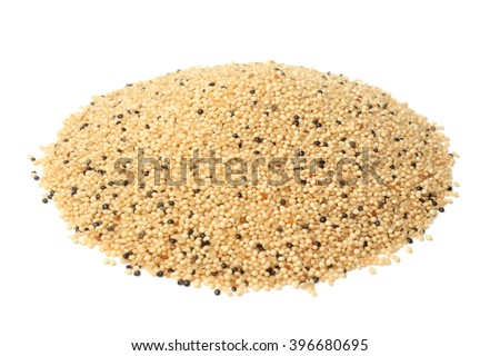 Amaranth grains on white background - stock photo