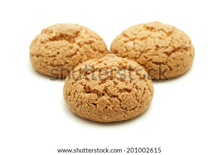 Amaretti di Saronno on a white background - stock photo