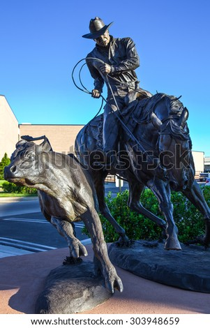 Amarillo, U.S.A. - May 21 2011: Texas,  the horse monuments of the American Quarter Horse Association