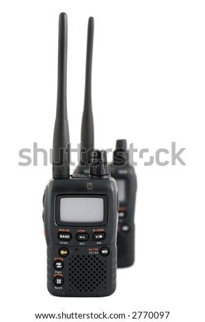 Amateur Radio Devices - Concept of Wireless Communications - stock photo
