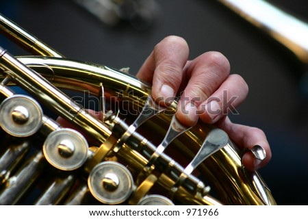 amator musicians repeating for a concert - stock photo
