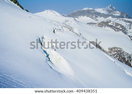 Amazing Alpine landscape. Sunrise, mountain and a house near the lake. - stock photo