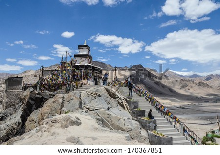 Amazing architecture of the Buddhist monasteries in Tibet mountain