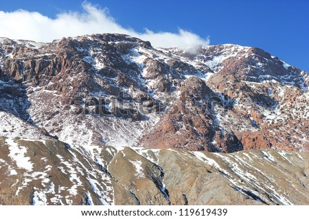 Amazing Atlas mountains in Morocco - stock photo