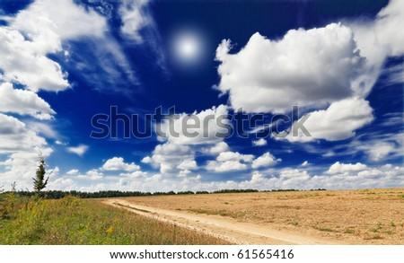 Amazing autumnal rural landscape. - stock photo