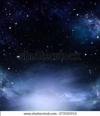 Amazing background of the night sky
