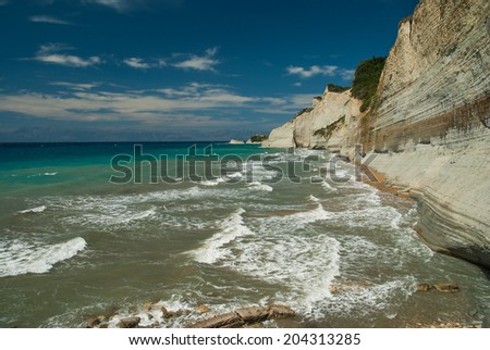 Amazing beach Greece Corfu
