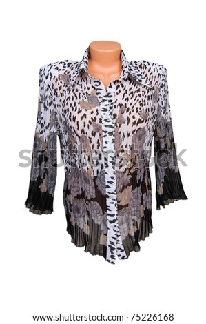 Amazing blouse isolated on a white background. - stock photo