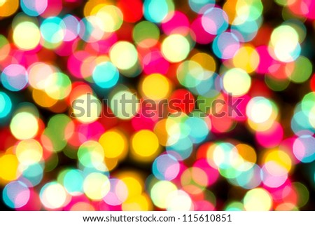 amazing bokeh of christmas lights - stock photo
