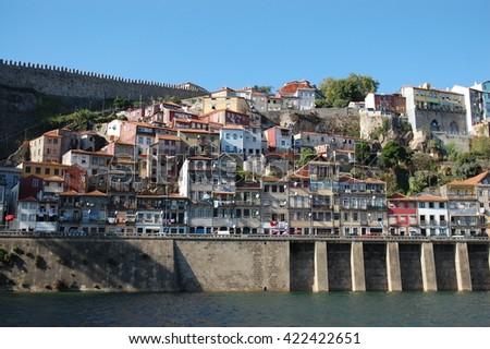 Amazing bridge over the Douro River in charismatic city PORTO, PORTUGAL  - stock photo