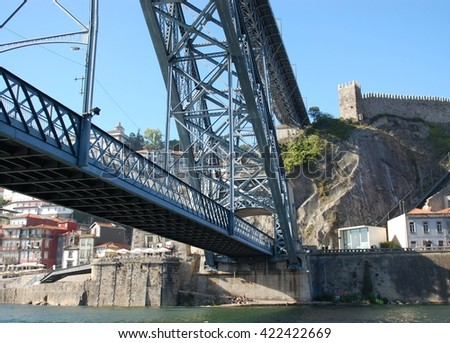 Amazing bridge over the Douro River in charismatic city PORTO, PORTUGAL