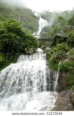 Amazing cascade of Vietnam - stock photo
