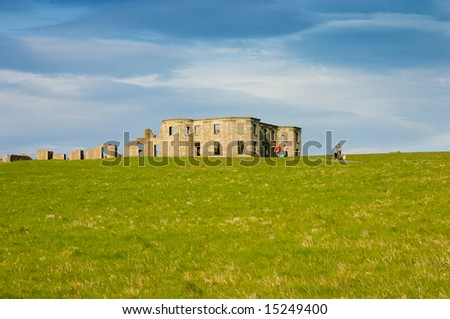 amazing castle from Northern Ireland - stock photo