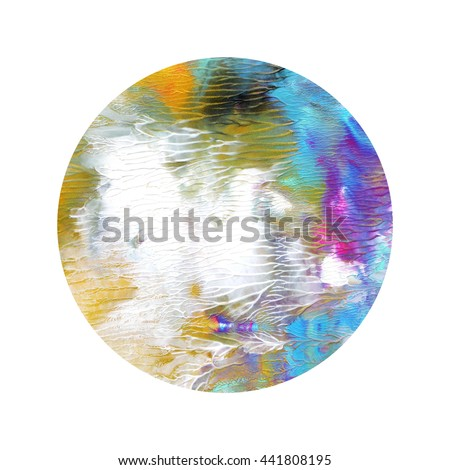 Amazing circle abstract design elements,colorful,hand painted, acrylic - stock photo