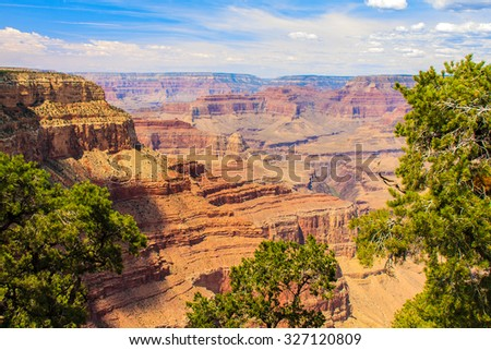Amazing Daytime Image taken at Grand Canyon National Park - stock photo