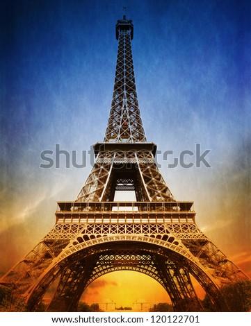 Amazing Eiffel Tower - stock photo