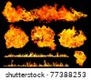 amazing fire collection - stock photo