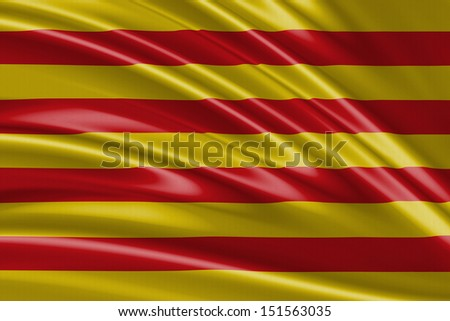 Amazing Flag of Catalonia , Spain - Europe