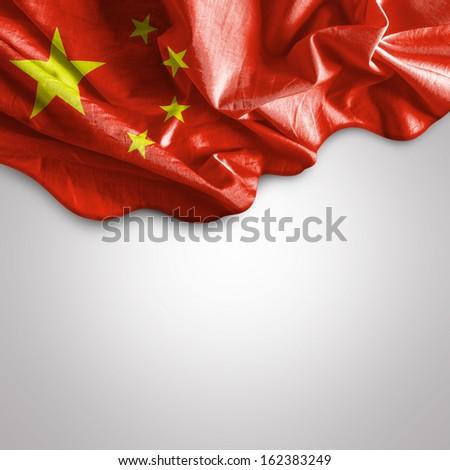 Amazing Flag of China, Asia - stock photo