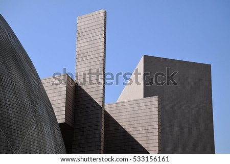 Amazing geometry and pure volumes and strong shadow of Hong Kong Space museum