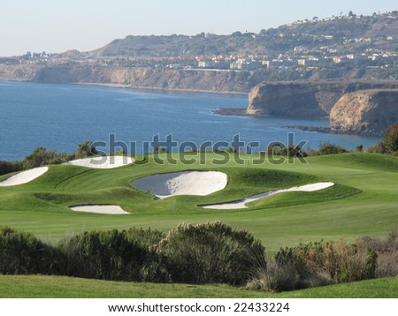 Amazing Golf Hole - stock photo
