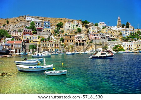 amazing Greece - pictorial island Symi - stock photo
