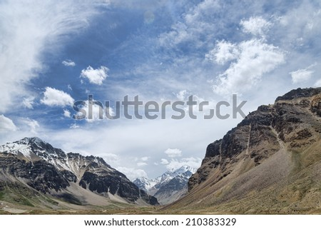 Amazing Himalaya mountains - stock photo