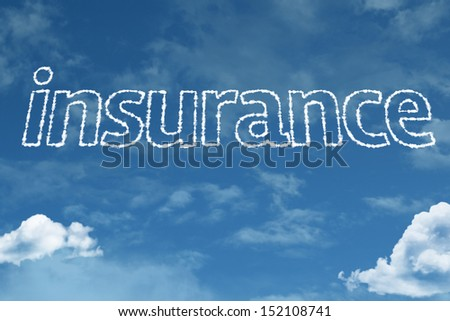 Amazing Insurance text on clouds - stock photo