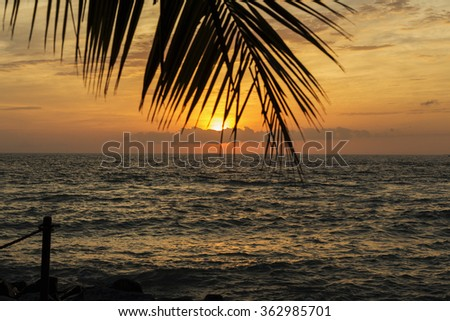 Amazing Key West Sunset, Florida - stock photo